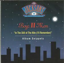 "BOYZ II MEN-IN THE STILL OF THE NITE + SNIPPETS FROM THE JACKSON 5 SINGLE 7""1992"