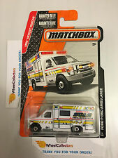Ford F-350 Ambulance #75 * WHITE * 2015 Matchbox * MXB Case K * j8