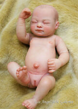 Full Body Silicone Reborn Newborn Preemie Babies Girl Doll Sleeping Baby 10""