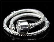 5pcs A+ 925 Plated 925 Silver Snake Chains for European Charms Bracelet 8.5""