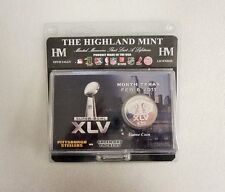 Super Bowl XLV Packers Steelers Highland Mint limited edition Replica Game Coin