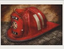 """+PC-Postcard-""""Fireman's Hat""""  (NYM FD)  /A Picture of Hat/ (B-222)"""