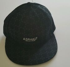 Asphalt yacht club multi print snap back cap, black