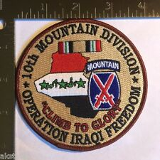 US ARMY 10th MOUNTAIN DIVISION OPERATION IRAQI FREEDOM PATCH OIF