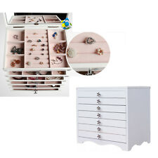 Jewelry Ring Display Organizer Box Tray Holder Earring Storage Case with Drawer