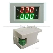 AC 300V 50A LED voltmeter ammeter AC digital display Volt Amp Meter 110V 220V