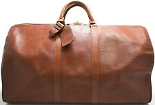 Louis Vuitton EPI KEEPALL 55 XL Reise Tasche Weekender Bag Braun Brown Brun