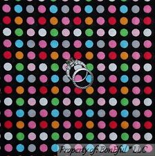 BonEful Fabric Cotton Quilt Black Gray Pink Blue Polka Dot Small Calico US SCRAP