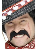 Adult Black Mexican Moustache Accessory Fancy Dress Brand New