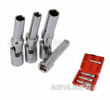 "Diesel Engine Glow Plug Socket Removal Set 4 Pc 3/8"" Drive Piece"
