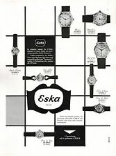 ▬► PUBLICITE ADVERTISING AD Montre Watch ESKA 1954