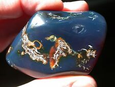 Beautiful BLUE Amber Fully Polished Gem TOP Quality LARGE 35.9 g RARE