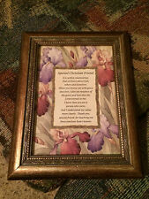 "BK-1 ""Special Christian Friend"" Framed poem  Frame is 7"" x 9"""