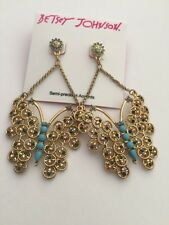$45 Betsey Johnson Boho Butterfly Fly Drop Earrings Bah 403