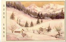 GRANTALIANO Paesaggio Alpino con Neve Vintage PC Circa 1930 Italy 11