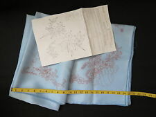 """Happy Easter Tablecloth stamped for paint embroidery 60"""" x 80"""" vtg 1981 Tri-Chem"""