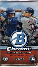 2016 Bowman Chrome Baseball Hobby Guaranteed Autographed Card Hot Pack