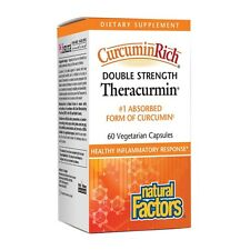 Natural Factors CurcuminRich Double Strength Theracurmin 60 VCaps - FAST SHIP