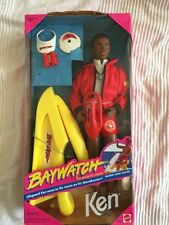 BNWB Barbie Ken -dark Skin- Famous Baywatch. Rare & Collectible With Accessories