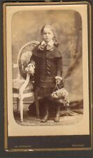 60 BEAUVAIS PHOTO CDV JEUNE FILLE HERBERT PHOTOGRAPHE