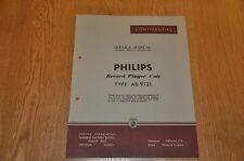 Philips AG 9121 Record Player Workshop service manual AG9121 + AG9129 sheet.