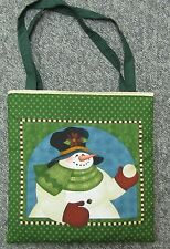 New tote hand toy school shoe purse bag Christmas snow snowman scarf