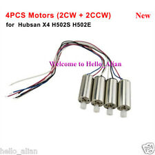 4PCS Motor Engine for Hubsan X4 H502S H502E RC Quadcopter Drone New Spare Parts