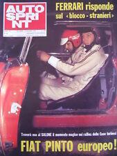 Autosprint n°44 1972 Rally Lancia Stratos Dino - Fiat Pinto  [P47]