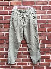 ANTHROPOLOGIE Levi's Made & Crafted Chino Trouser Linen Pants Green 28 RARE!