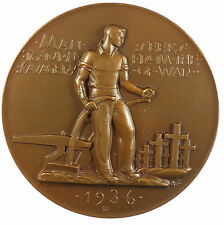 Society of Medalists 14. 1936, SAVAGERY OF WAR - HOPE OF PEACE By Albert Stewart