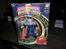 """1993 MIGHTY MORPHIN Power Rangers EVIL SPACE ALIENS 8"""" FINSTER FIGURE BANDAI BOX"""