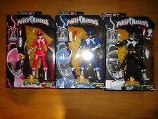 Bandai Mighty Morphin Power Rangers Legacy Figure Lot Pink Blue Black NEW 2016 2