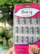 24PCS Lightening Nail Art False Fake Nail Tips high quality Zebra stripe color
