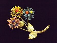 Vintage Unsigned Miriam Haskell 1920s - 1930s Flower Brooch
