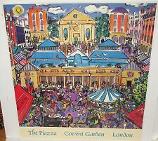 "CHRISTOPHER ROGERS ""THE PIAZZA COVENT GARDEN LONDON HAND SIGNED SMALL POSTER"