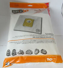 Pack of 10 Vacuum Cleaner Bags for Philips S-bag / Electrolux E200B