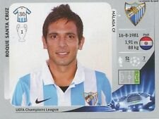 N°226 ROQUE SANTA CRUZ # PARAGUAY MALAGA.CF CHAMPIONS LEAGUE 2013 STICKER PANINI