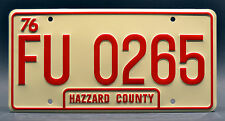 Dukes of Hazzard / Cooter's Tow Truck / FU 0265 *STAMPED* Prop License Plate