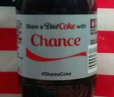 Share A Coke With Chance Diet Coke Limited Edition Coca Cola Bottle 2015 USA
