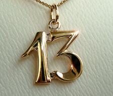 ECHT GOLD *** Anhänger Kettenanhänger Die 13 Dreizehn