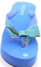 Women Glitter Rubber Flip Flop Wedge Thong Summer Beach Slipper Sandals Shoes