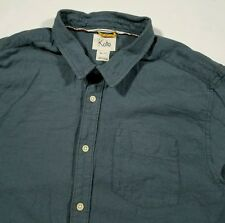 Koto Urban Outfitters Men's XL Button Up Shirt Pocket Long Sleeve TEAL Heather
