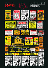 1/35 Scale Zombie Wars - Warning Signs -