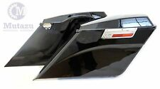 "Mutazu Complete Side Angled 5"" Stretched Extended Saddlebags for Harley Touring"