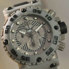 New Mens Invicta 0406 Subaqua Nitro Swiss Made Chrono Black and Grey SS Watch