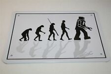 EVOLUTION - ROBOTER ROBOT - Blechschild 21x15 cm 0097 Wandschild SIGN