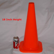 "WORKOUTZ 18"" INCH ORANGE CONES (LOT OF 6) SAFETY SPORTS PARKING AGILITY TRAINING"