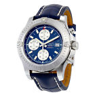 Breitling Colt Chronograph Automatic Blue Dial Blue Leather Mens Watch