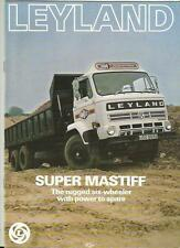 LEYLAND SUPER MASTIFF SIX-WHEELER TRUCK LORRY BROCHURE LATE 70's