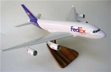 Airbus A-380 FedEx Freight Airplane Kiln Dry Wood Model Small